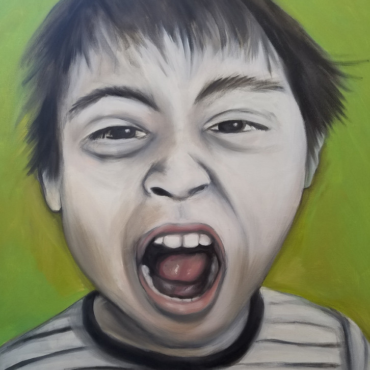 """Norwen Scream"" 30 x 30"" oil"
