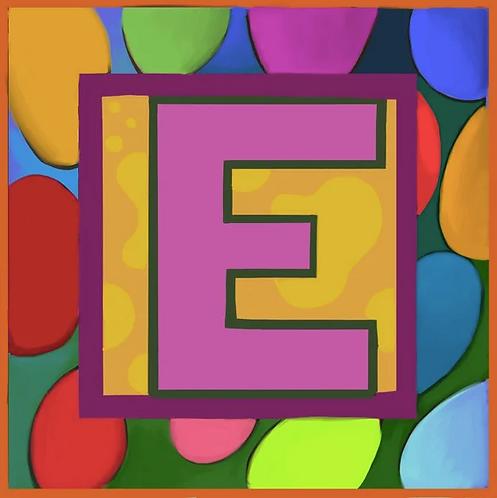 E Alphabet Letter Print
