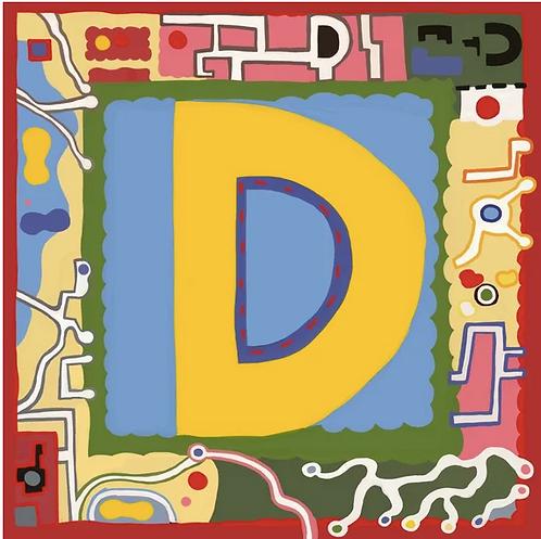 D Alphabet Letter Print