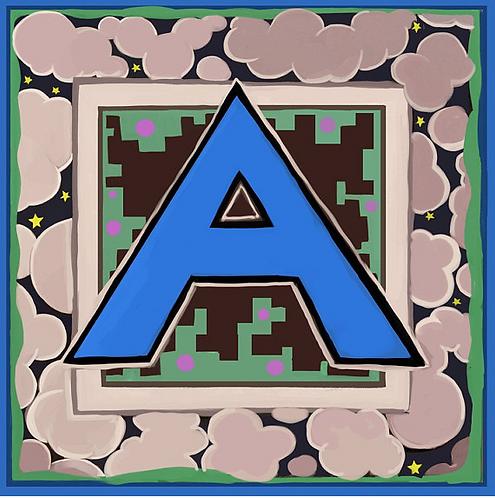 A Alphabet Letter Print