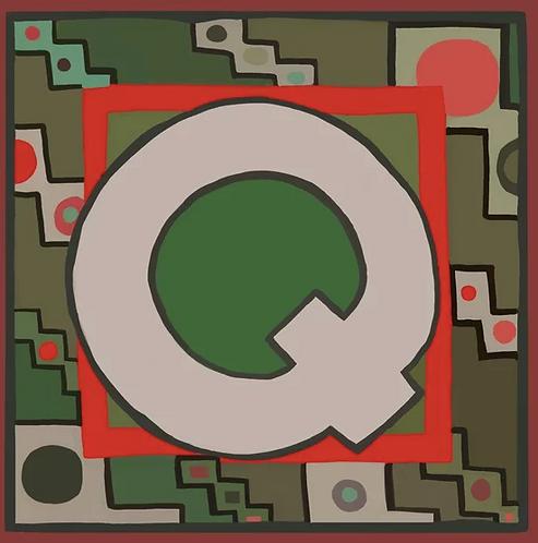 Q Alphabet Letter Print