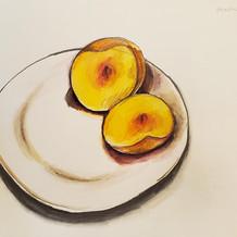 Peach drawing
