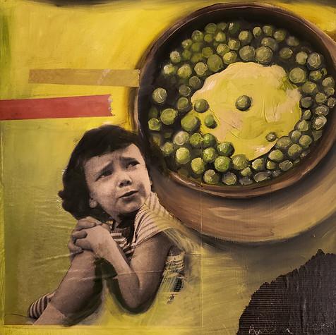 Girl and Peas