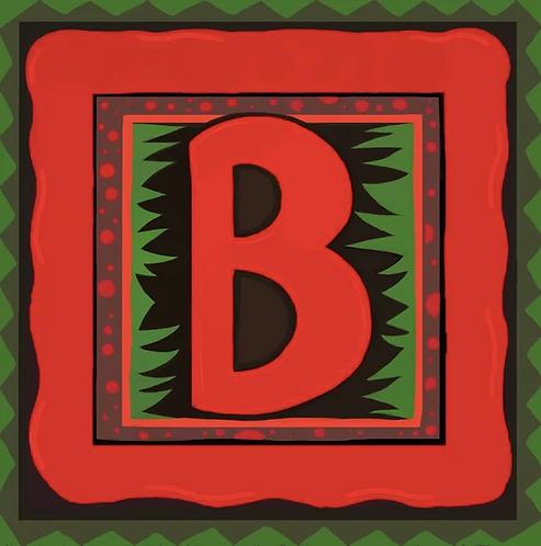 B Alphabet Letter Print