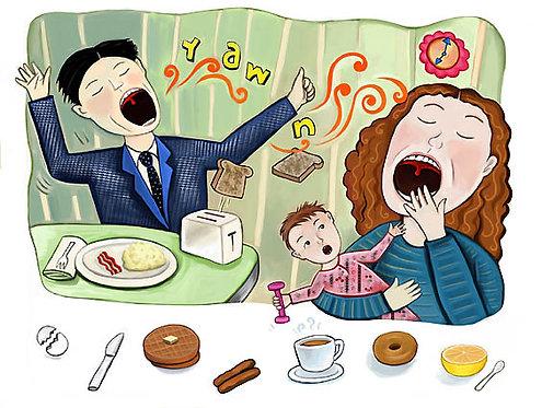 Breakfast Chaos Print