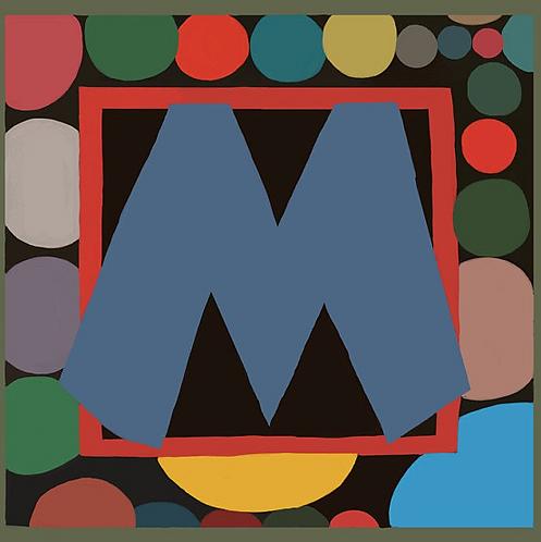 M Alphabet Letter Print