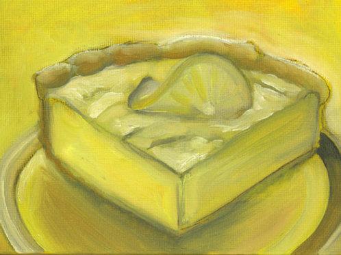 Small Lemon Meringue Pie painting