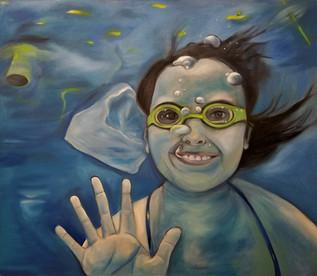 Shirley Underwater with Plastic