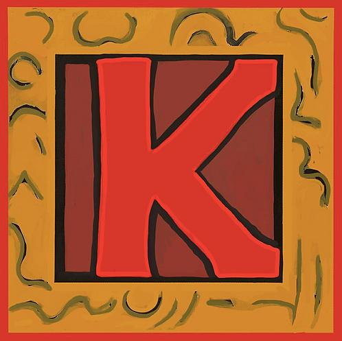K Alphabet Letter Print