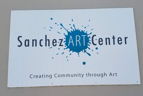 Sanchez Art Center Sign