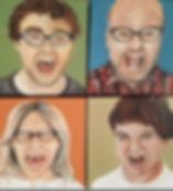 Family scream portrait commission