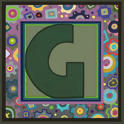 G Alphabet Letter Print