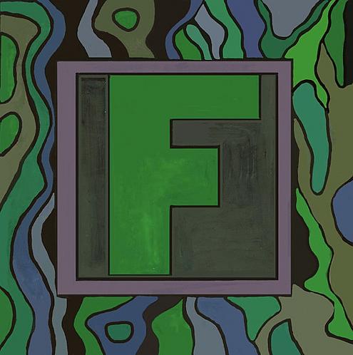F Alphabet Letter Print