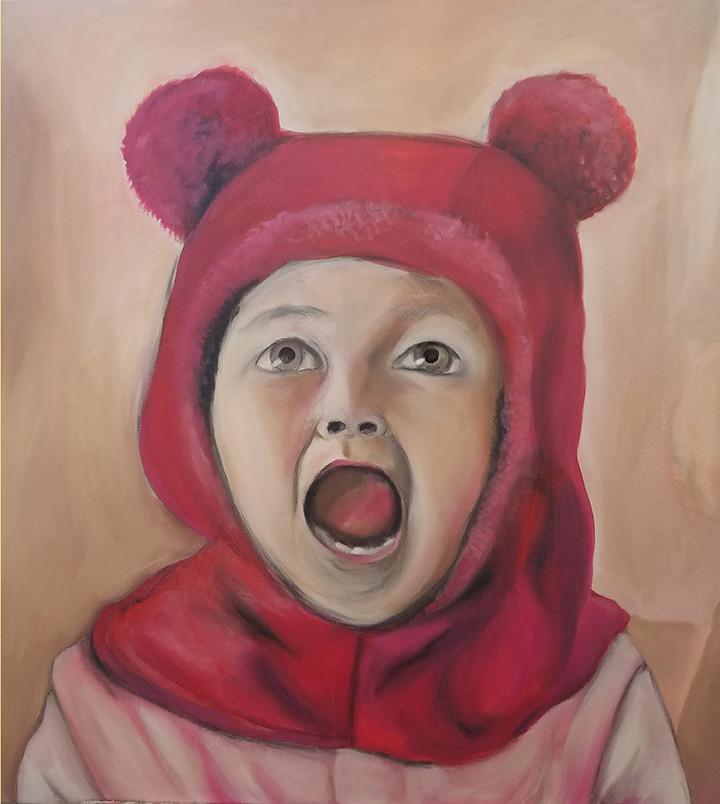 """Amelia Scream"", oil on canvas"