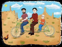 Bike Riding Family