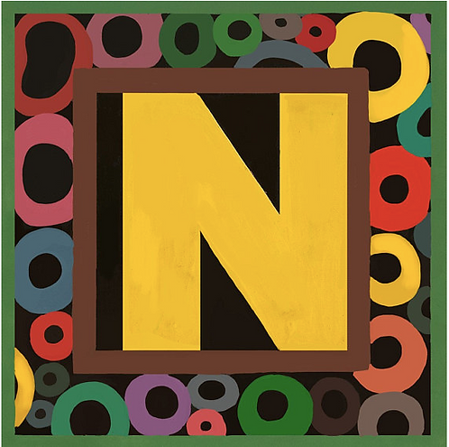 N Alphabet Letter Print