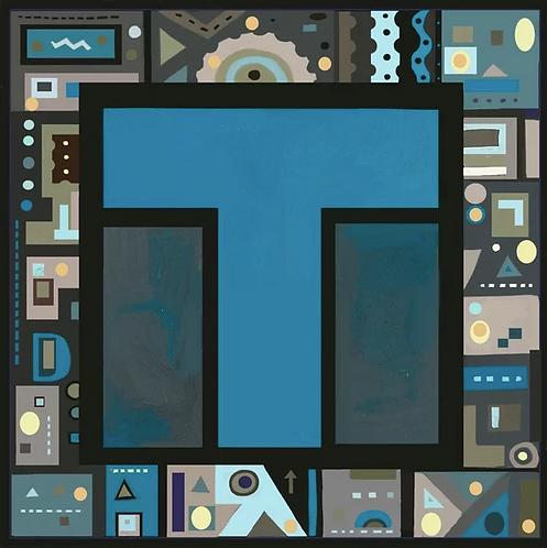 T Alphabet Letter Print
