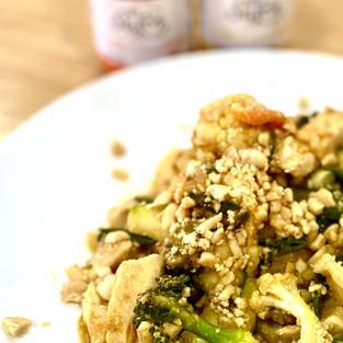 Pollo, verduras & Puro Sazón