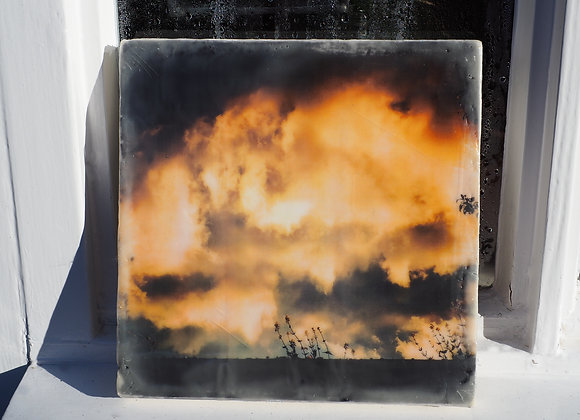 The Wall 1 - Encaustic photography - Limited edition