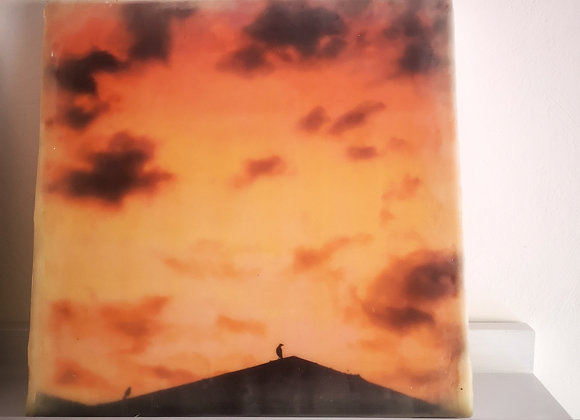 Petworth Rooftop 1 - Encaustic photography - Limited edition