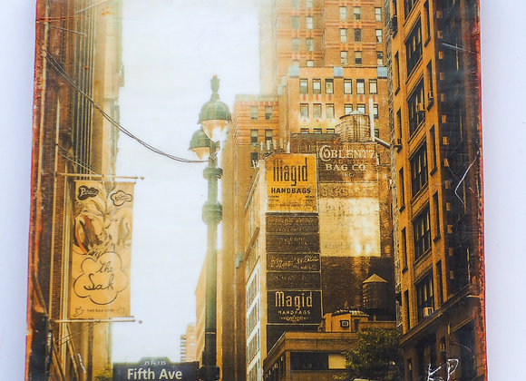 Fifth Avenue, New York - encaustic photography - limited edition