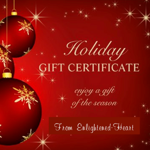 Gift Certificate - One Enlightened-Heart appt. of your choice