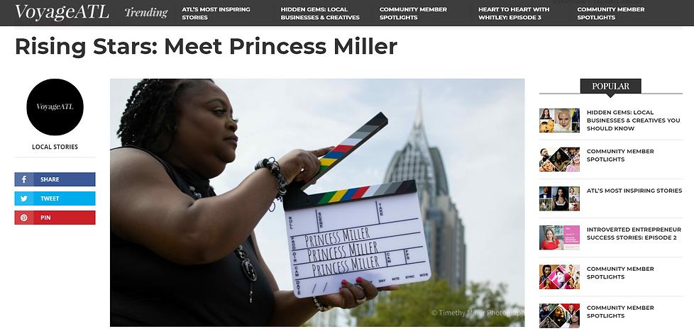 Princess Miller, VoyageATL