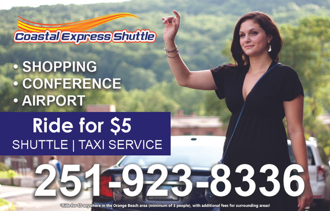 Coastal Express Shuttle Perdido Beach Ad
