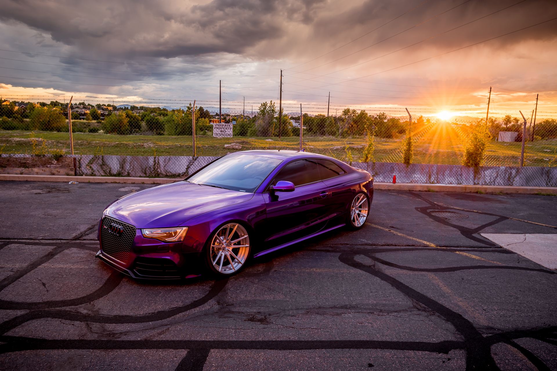 Audi RS5 Sunset