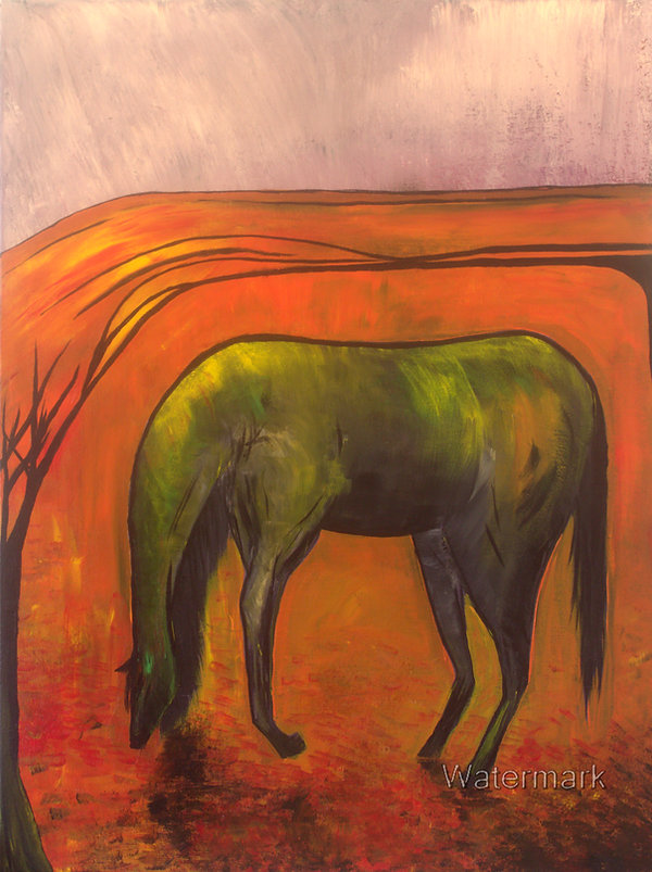 'Dark Horse' Original Painting