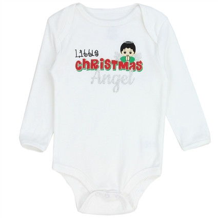 buster brown baby christmas holiday onesie bodysuit