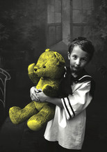 kid with a bear