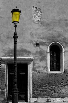 Yellow lamp on the street