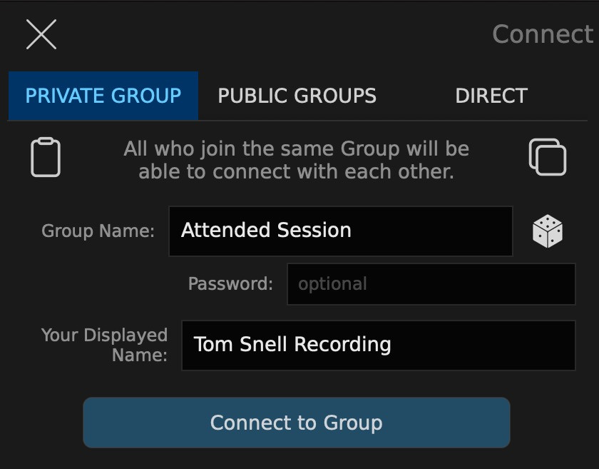 How to setup SonoBus: Creating a session