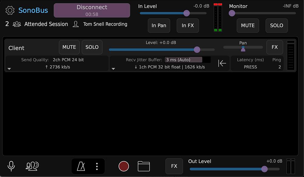 SonoBus: Remote collaboration with stereo audio