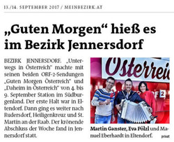 2017 Sept.   Bezirksblatt Güssing
