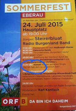 2015 Juli   ORF Sommerfest Ebereau