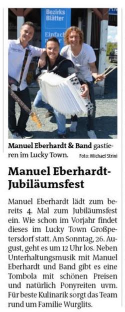 2018 Aug.   Bezirksblatt Oberwart