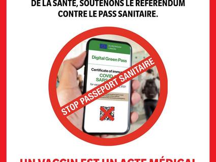 Réinfo Santé Suisse soutient le référendum contre le certificat sanitaire