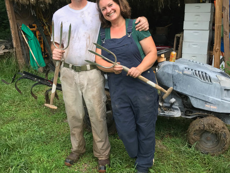 2 Digging Forks, 1 Crazy Couple, 50,000 Bulbs of Garlic, A Lot of Dirty Fun!