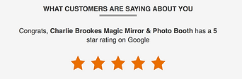 Five star rating on Google