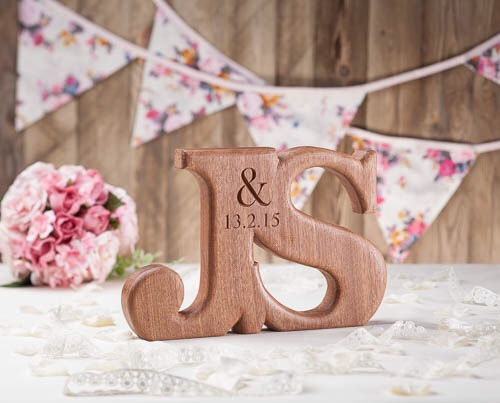 beautifully hand carved oak letters