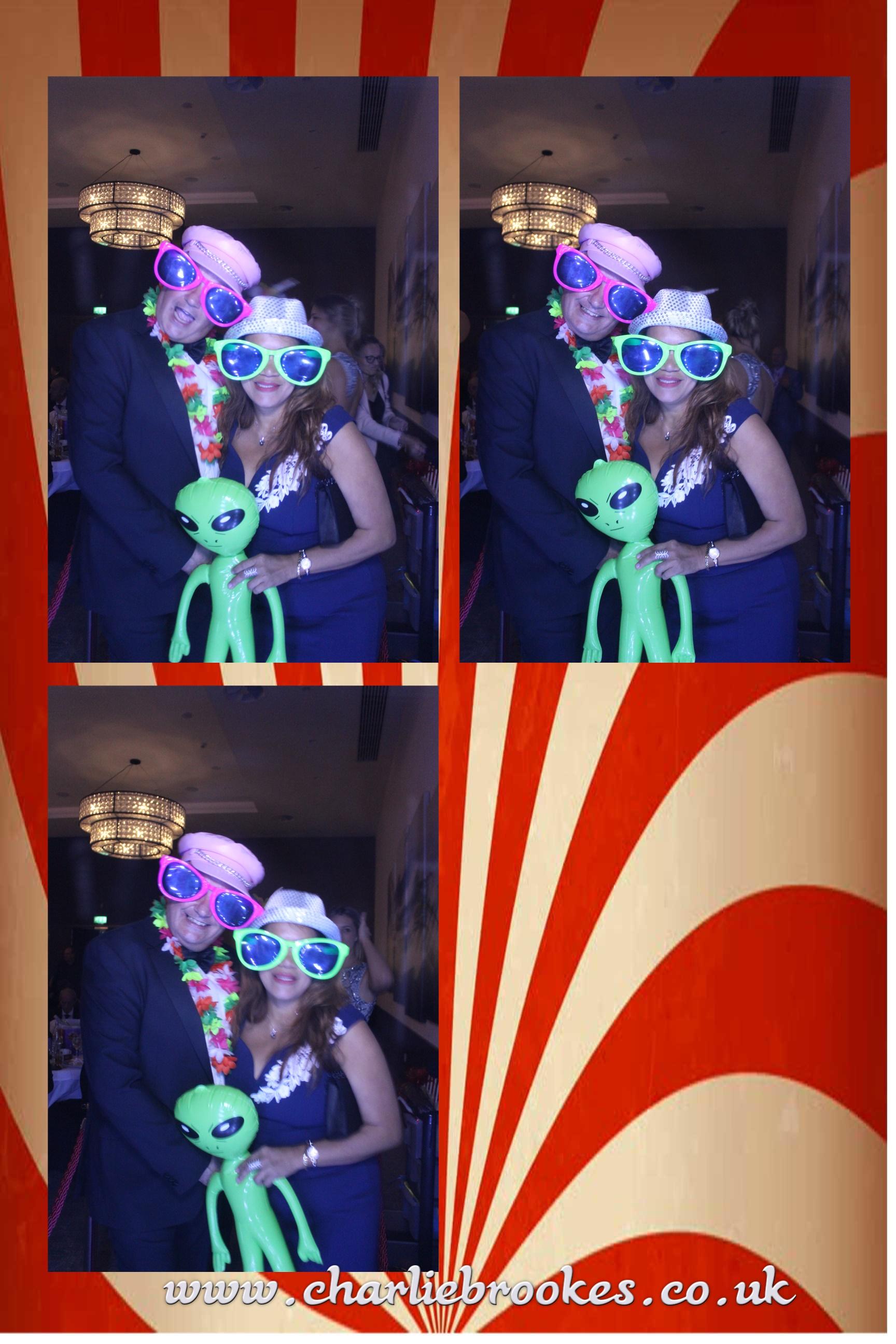 Carnival themed multi shot te,plate