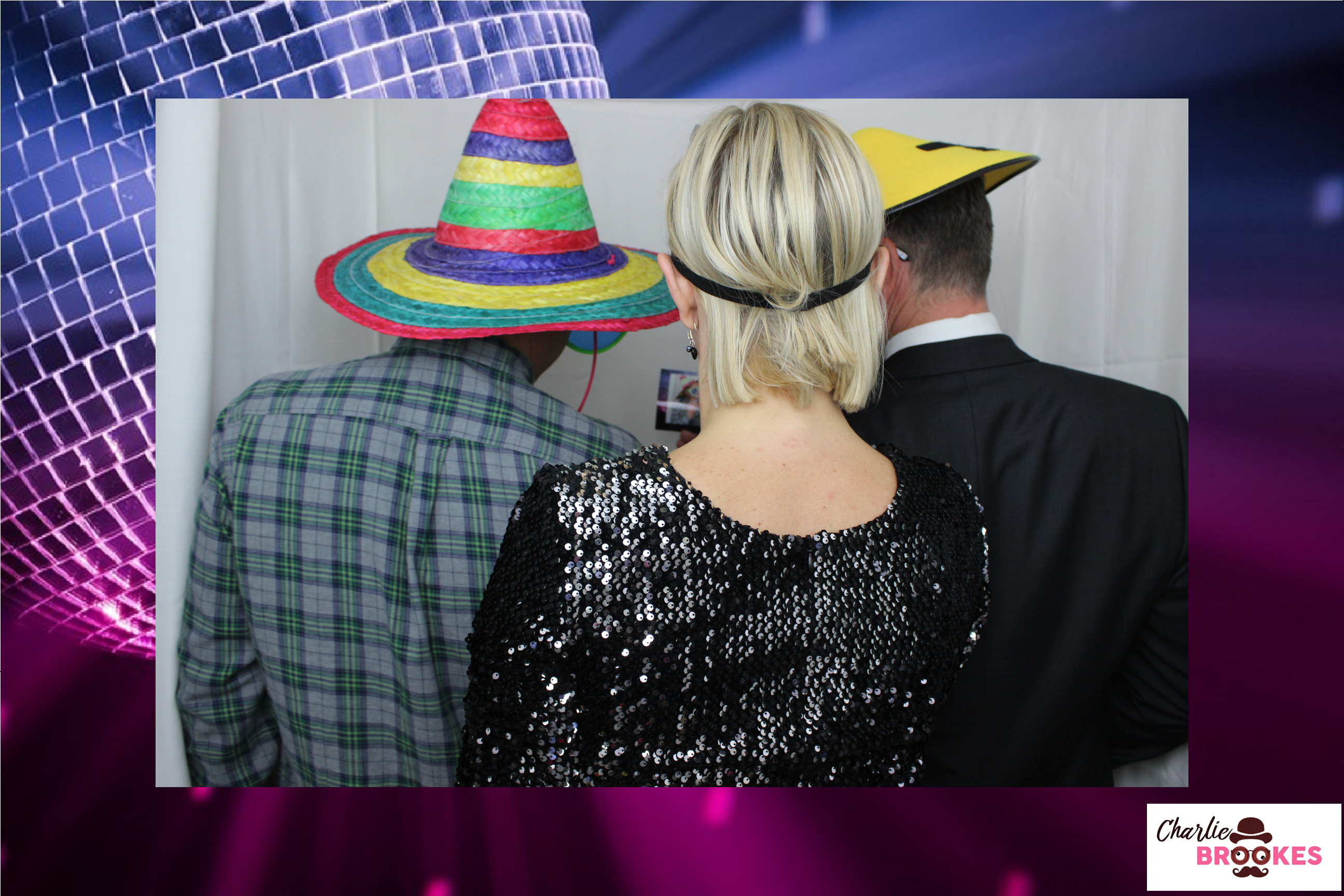 Disco glamour photo booth