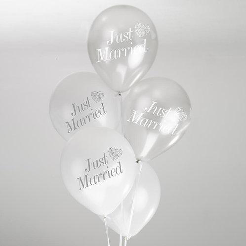 Vintage Romance Balloons - White/Silver