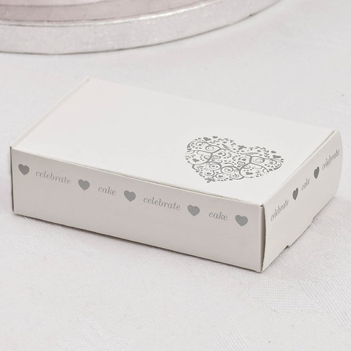 Vintage Romance Cake Boxes - White & Silver