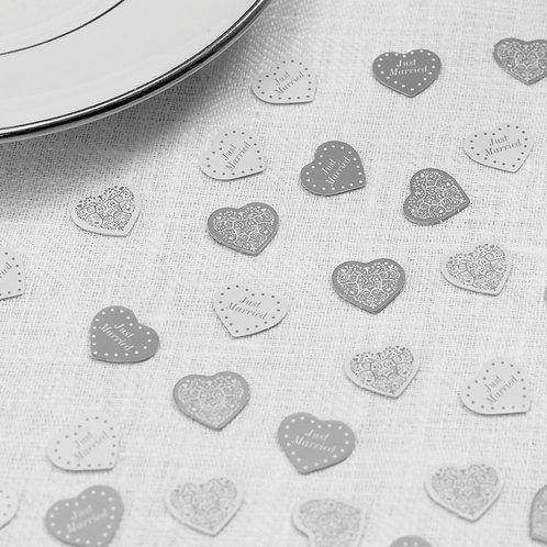 Vintage Romance - Table Confetti - White/Silver