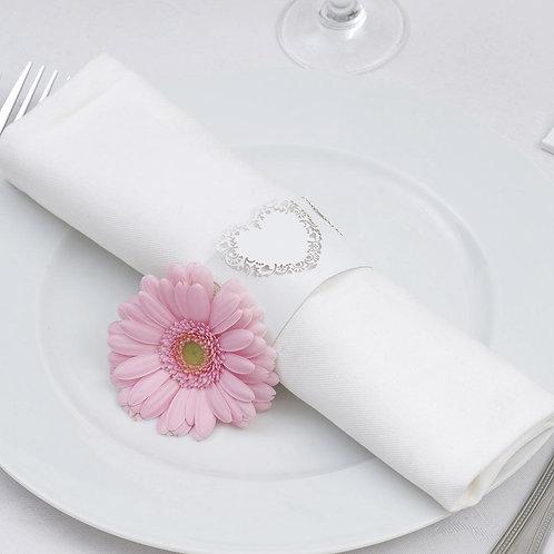 Vintage Romance - Laser Cut Napkin Rings - White