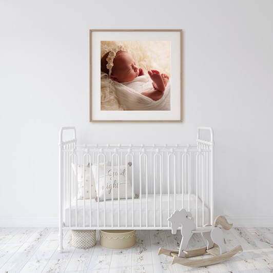 Nursery Wall Art of baby girl