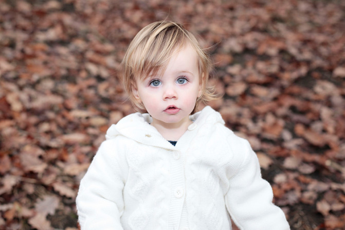 Little Evie's photoshoot in the park